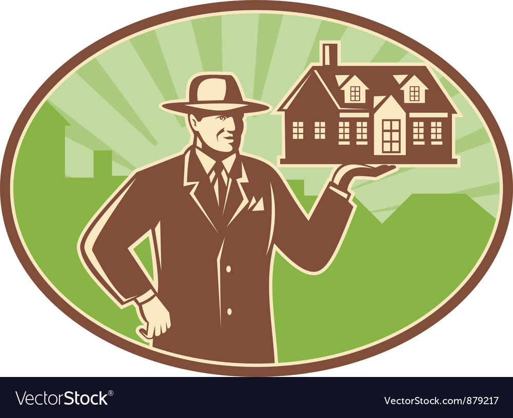 Real estate salesman vector | Price: 1 Credit (USD $1)