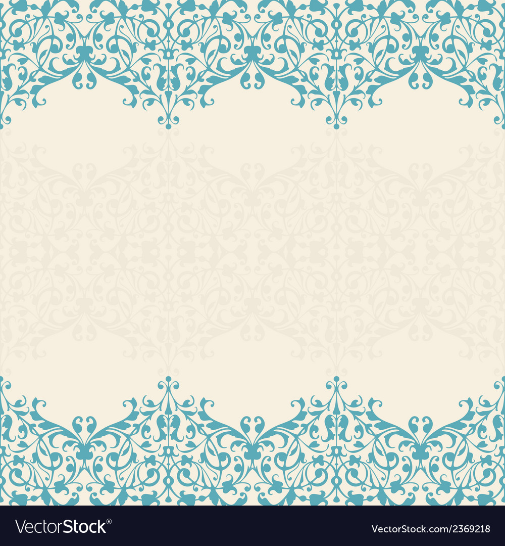 Abstract floral background seamless lace vector | Price: 1 Credit (USD $1)
