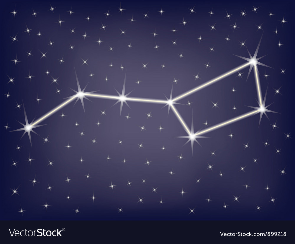 Constellation ursa major vector | Price: 1 Credit (USD $1)