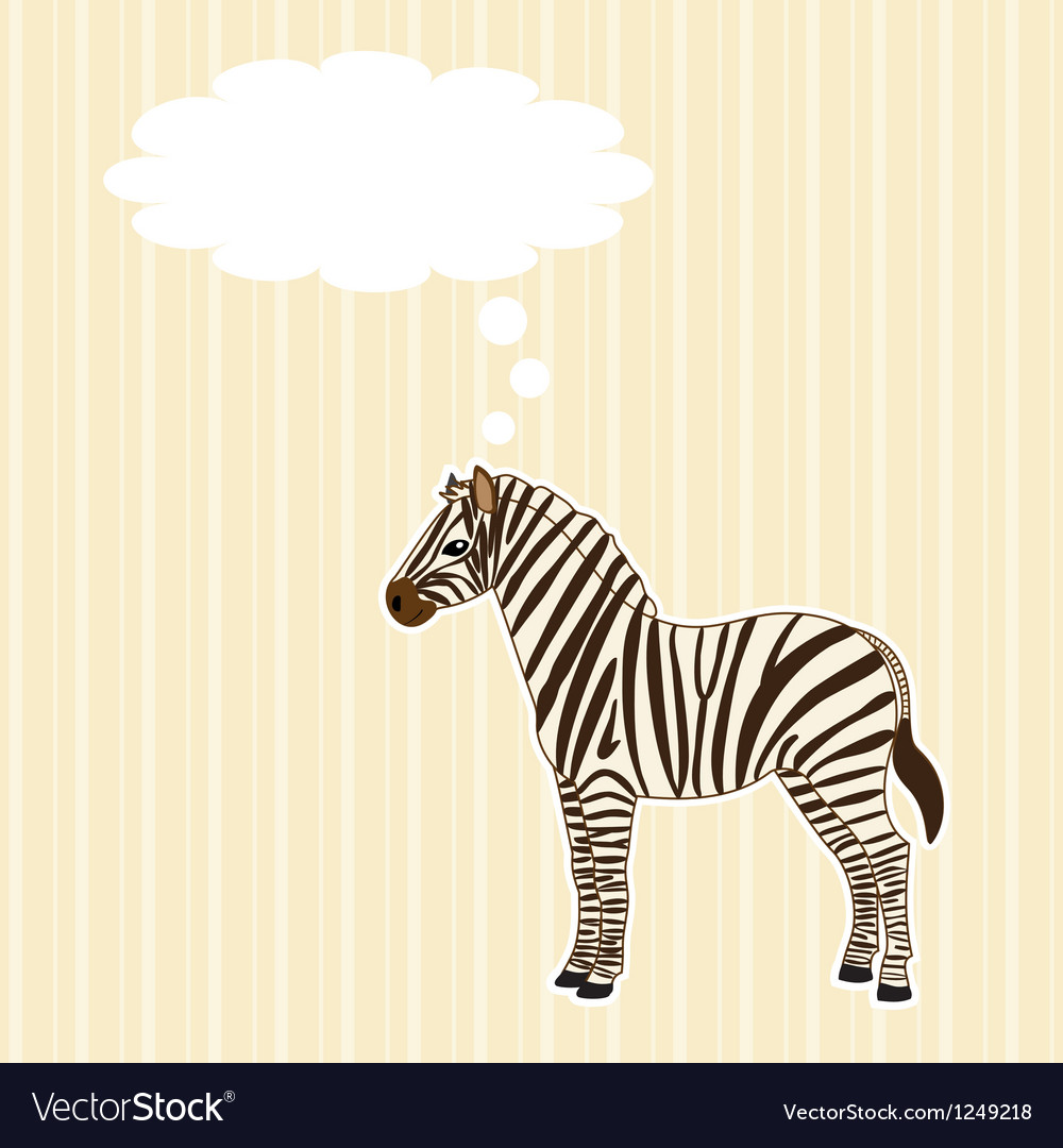Greeting card with zebra vector | Price: 1 Credit (USD $1)