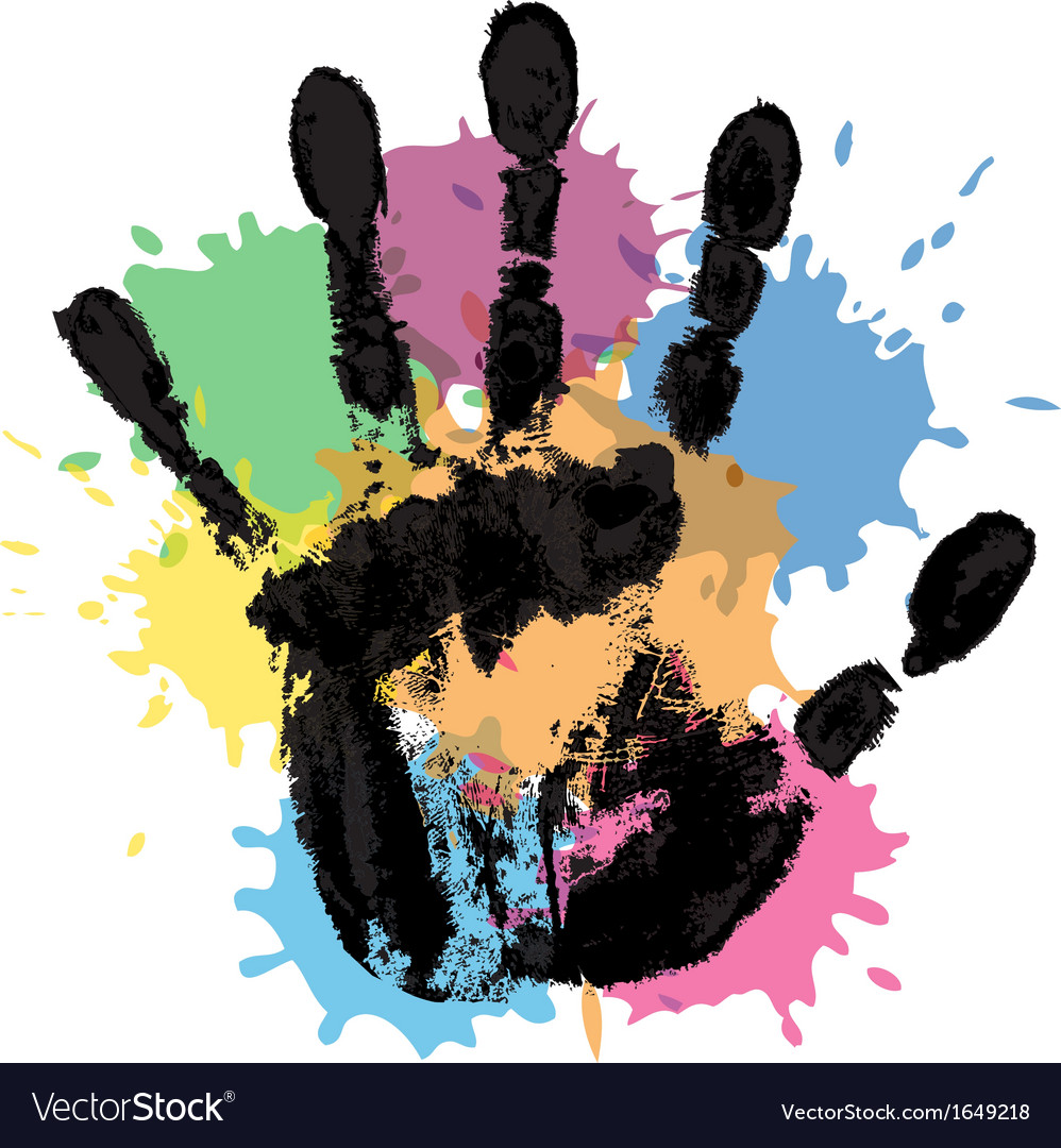 Handprint and blots vector | Price: 1 Credit (USD $1)