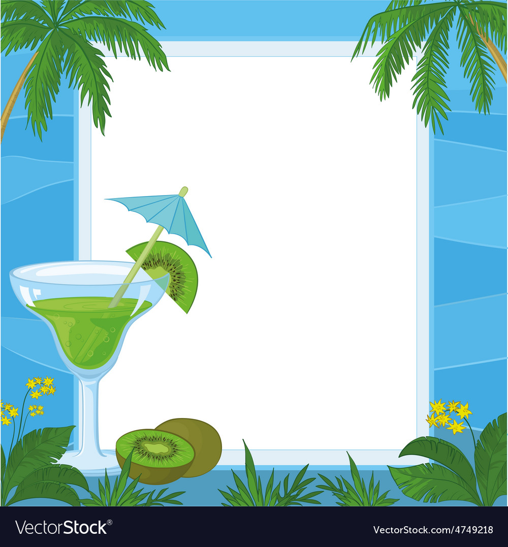 Juice kiwi fruit and exotic background vector | Price: 1 Credit (USD $1)