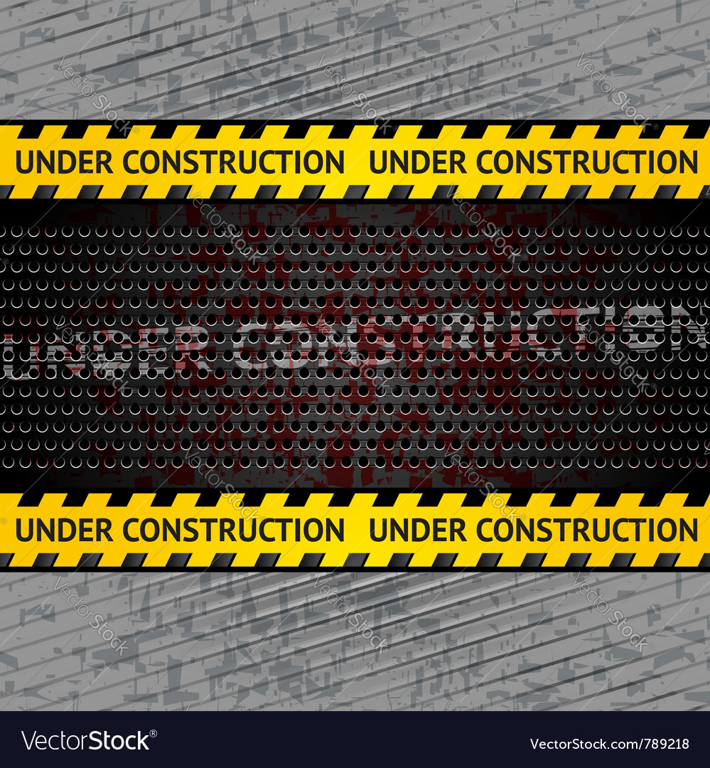 Under construction background template vector | Price: 1 Credit (USD $1)