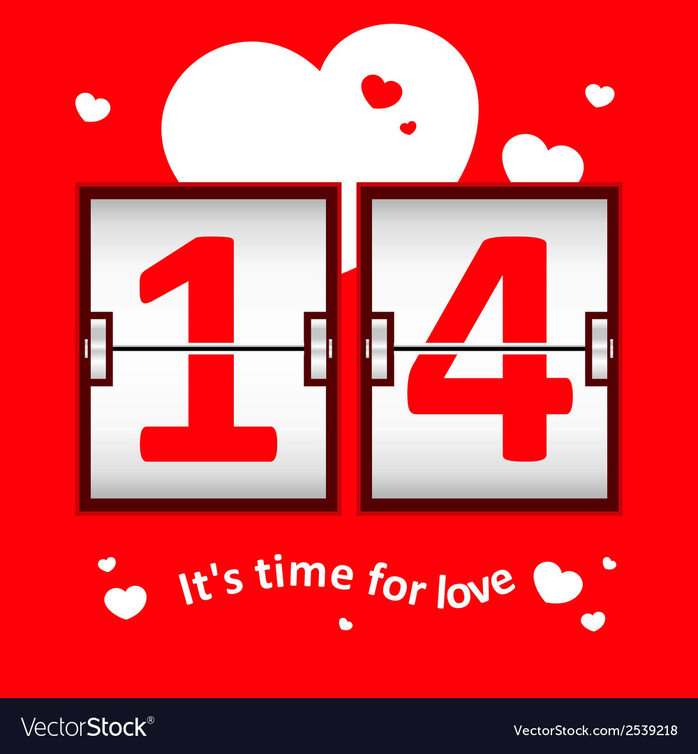 Valentines day date scoreboard vector | Price: 1 Credit (USD $1)
