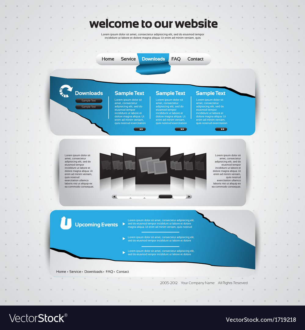 Website design template vector | Price: 1 Credit (USD $1)