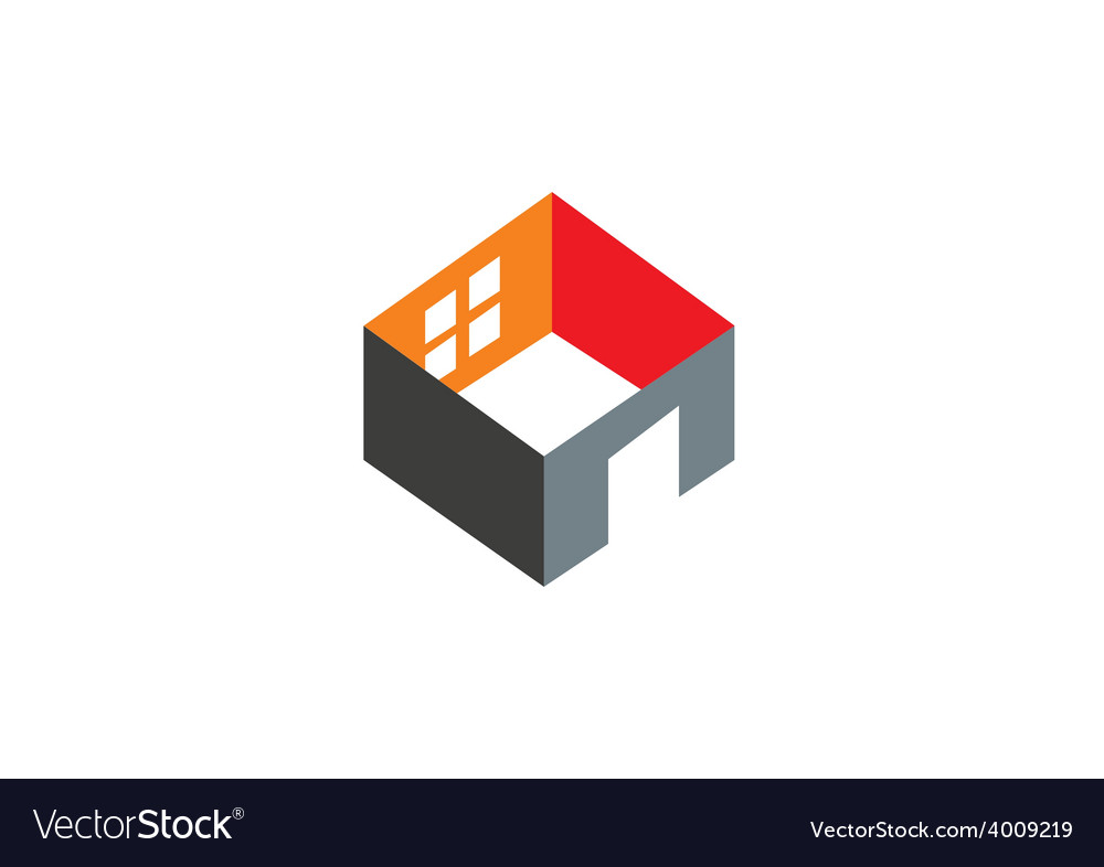 3d home construction interior logo vector | Price: 1 Credit (USD $1)