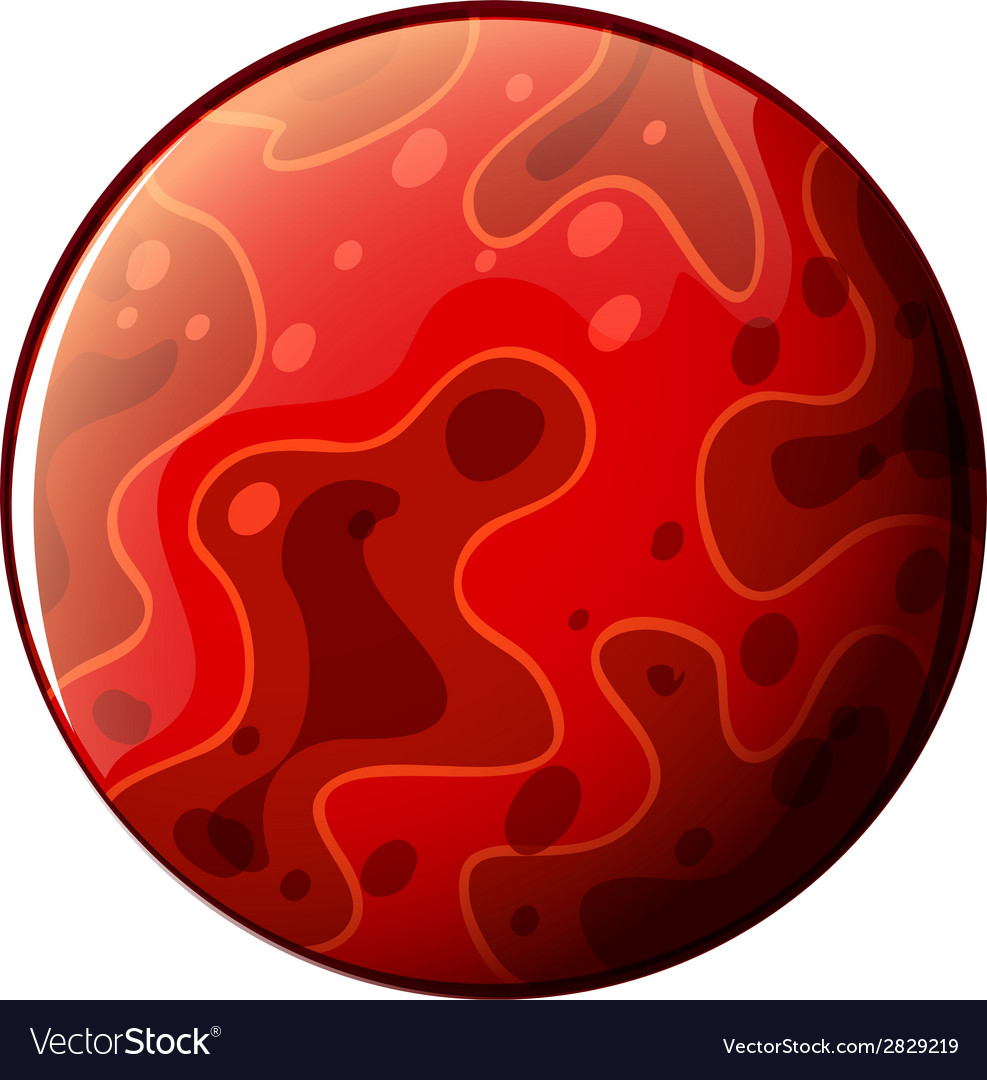 A red planet vector | Price: 1 Credit (USD $1)