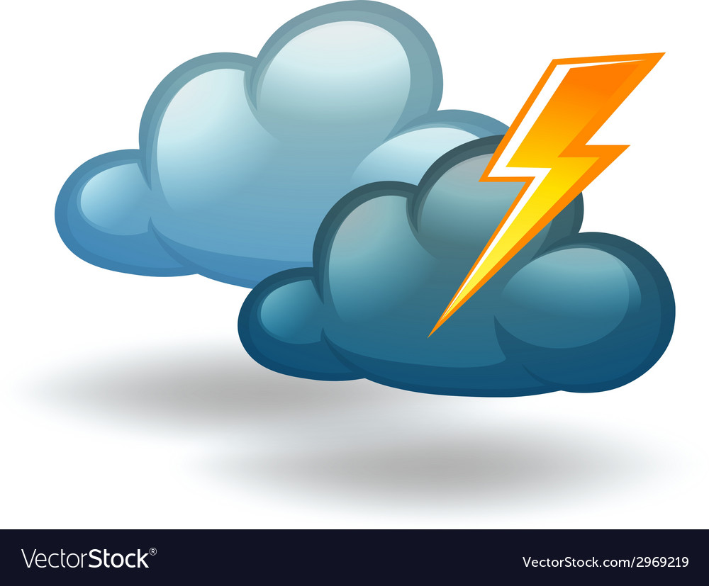 A weather with thunder vector | Price: 1 Credit (USD $1)