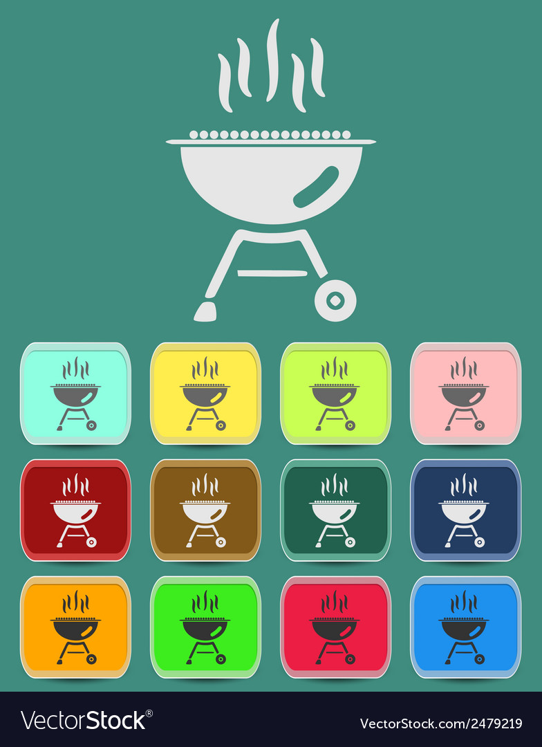 Barbecue grill icon vector | Price: 1 Credit (USD $1)
