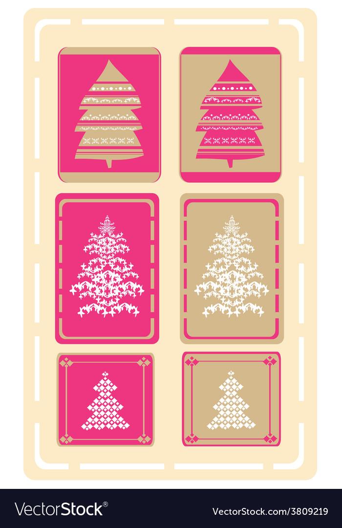 Christmas tree design set vector | Price: 1 Credit (USD $1)