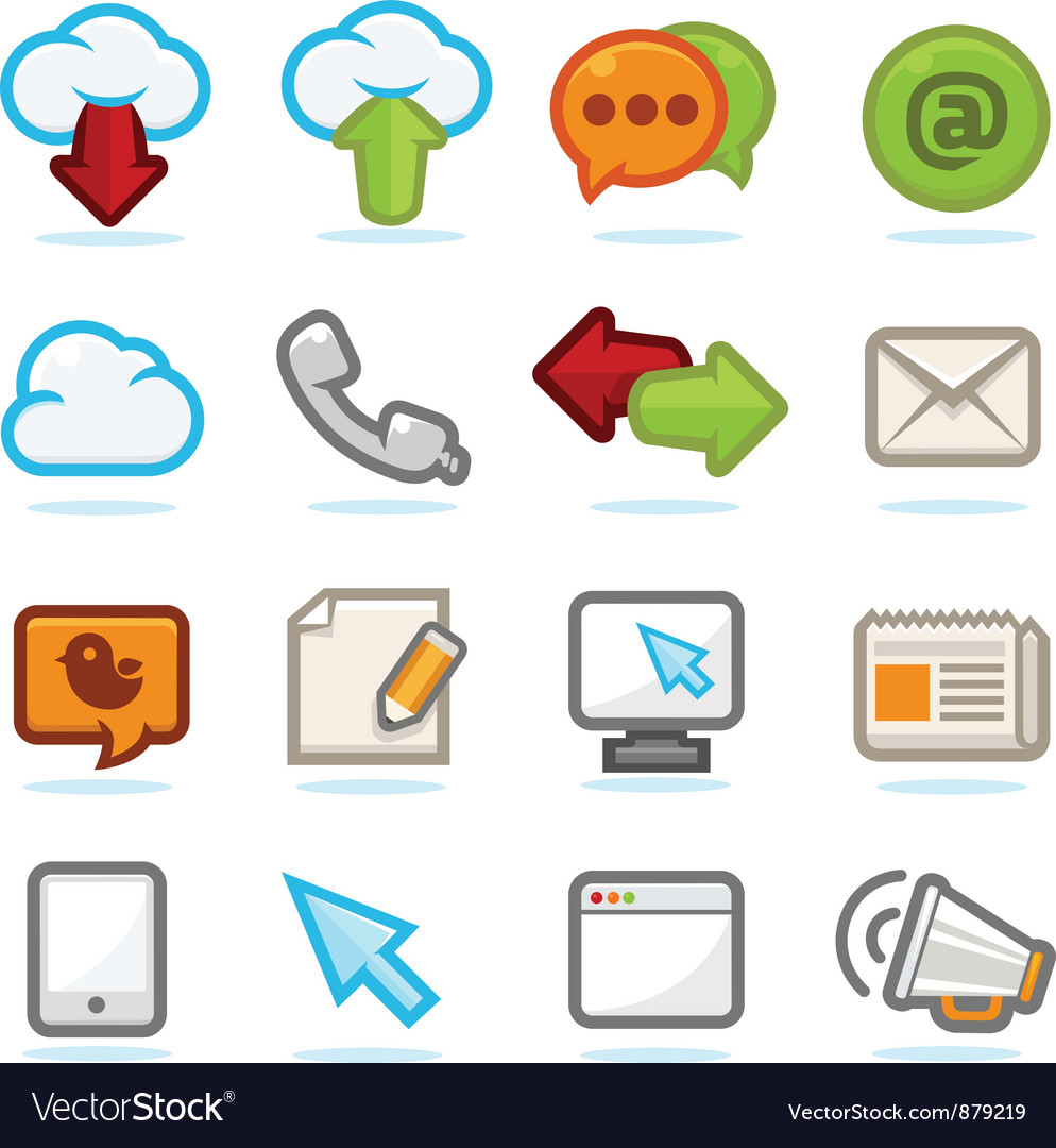 Communication icons set vector | Price: 3 Credit (USD $3)