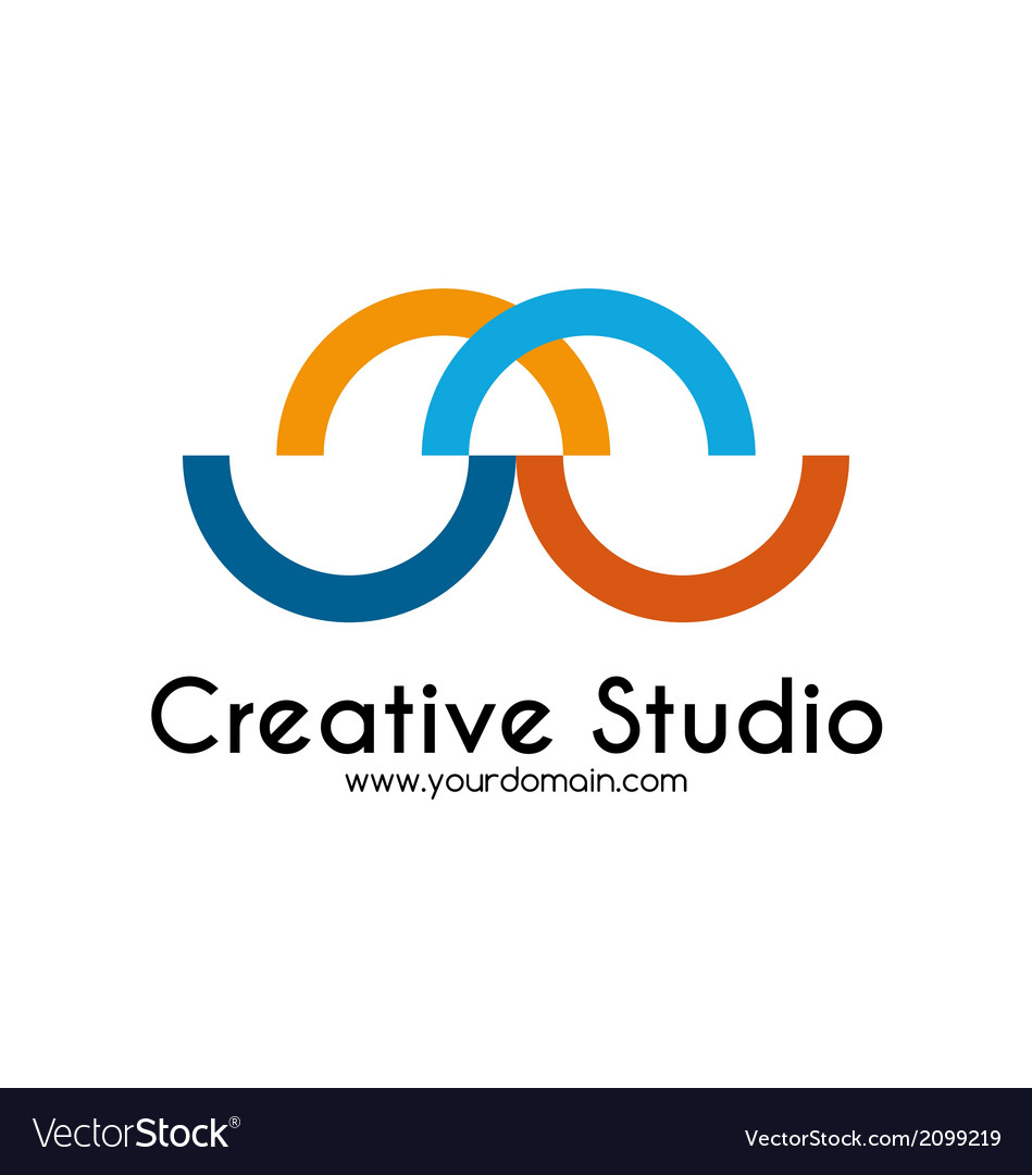 Creative studio logo template vector | Price: 1 Credit (USD $1)