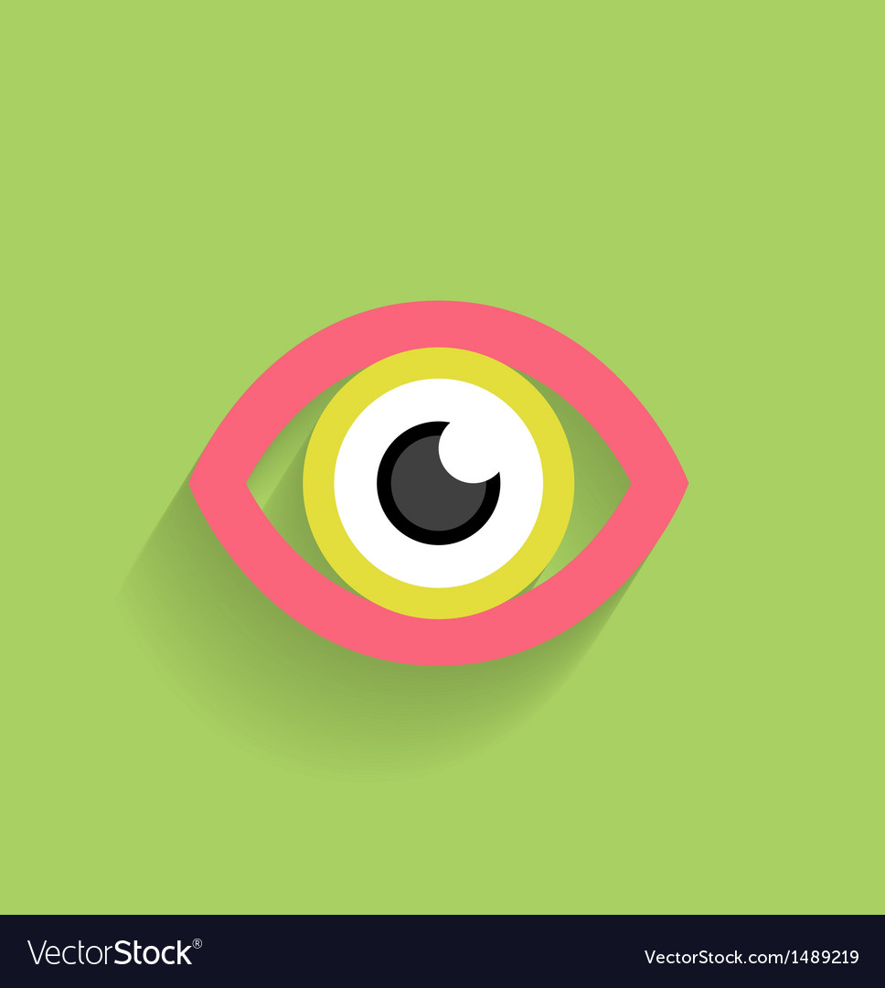 Eye icon flat modern design vector | Price: 1 Credit (USD $1)