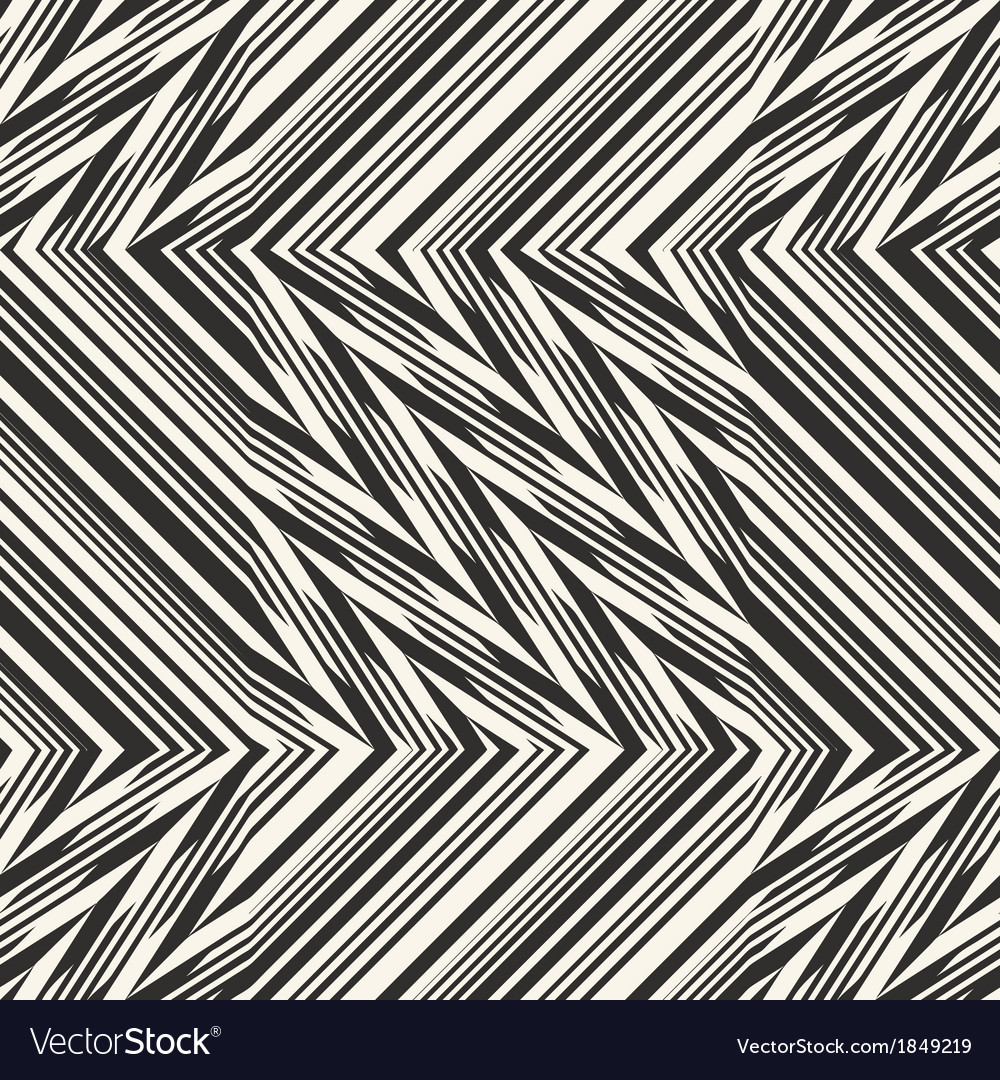 Ornate broken striped textured geometric seamless vector