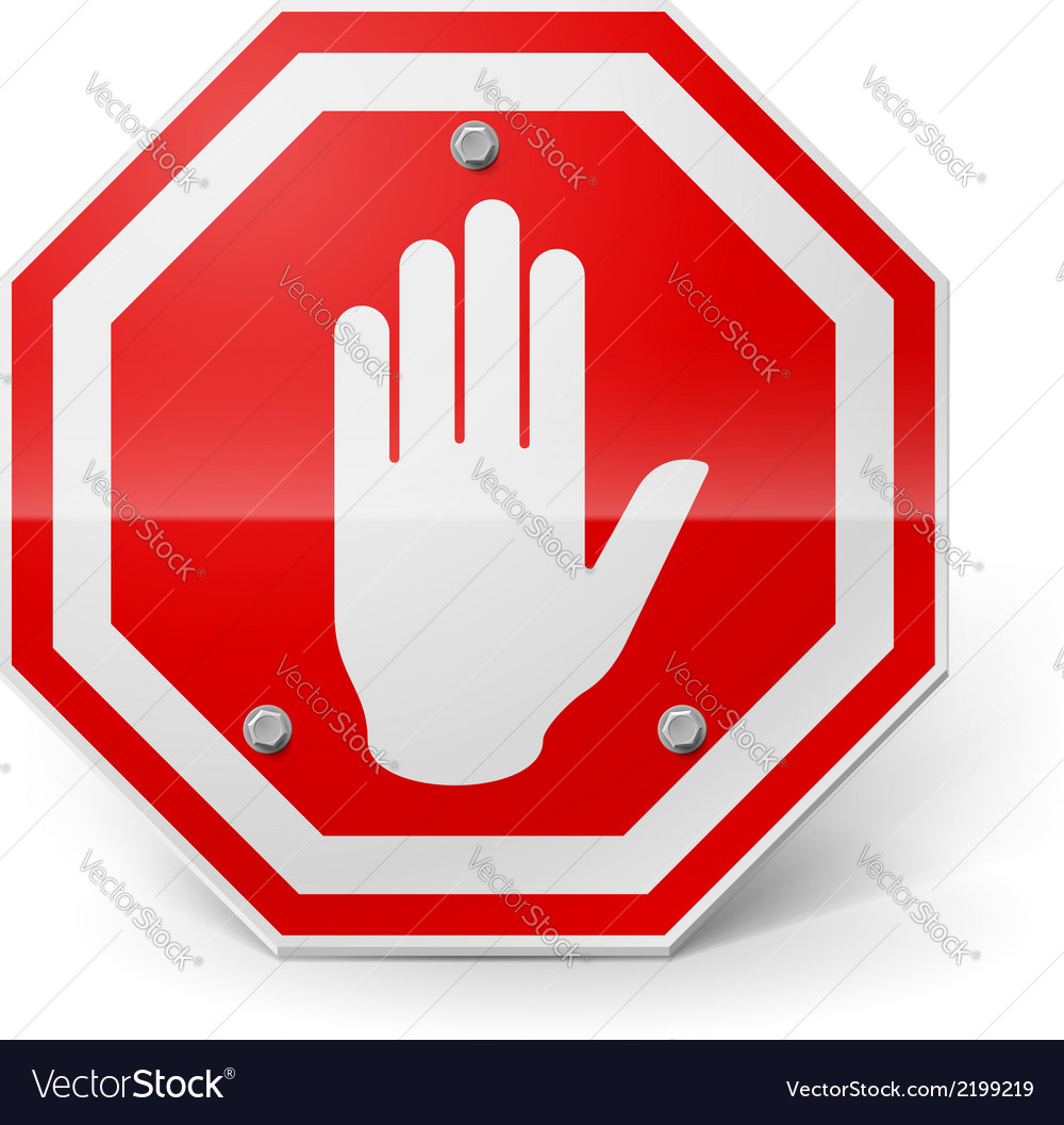 Red metal stop sign vector | Price: 1 Credit (USD $1)