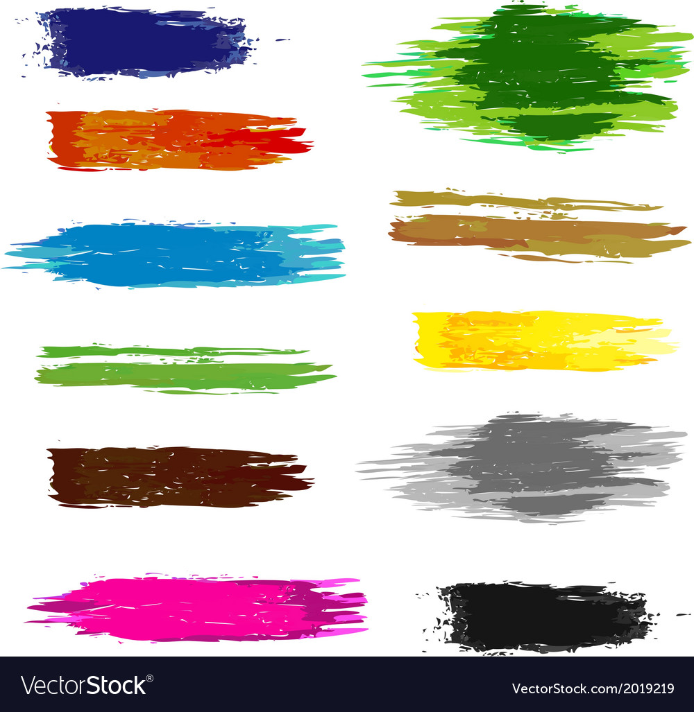 Set of artistic brush vector | Price: 1 Credit (USD $1)