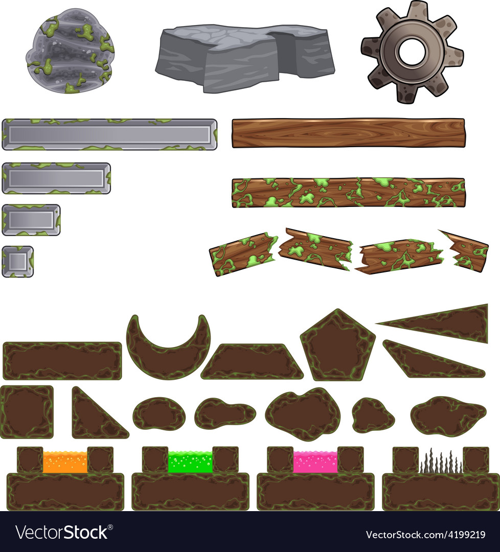 Set of game elements vector | Price: 1 Credit (USD $1)