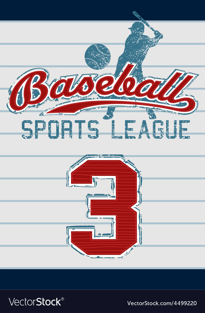 Baseball sports league vector | Price: 1 Credit (USD $1)