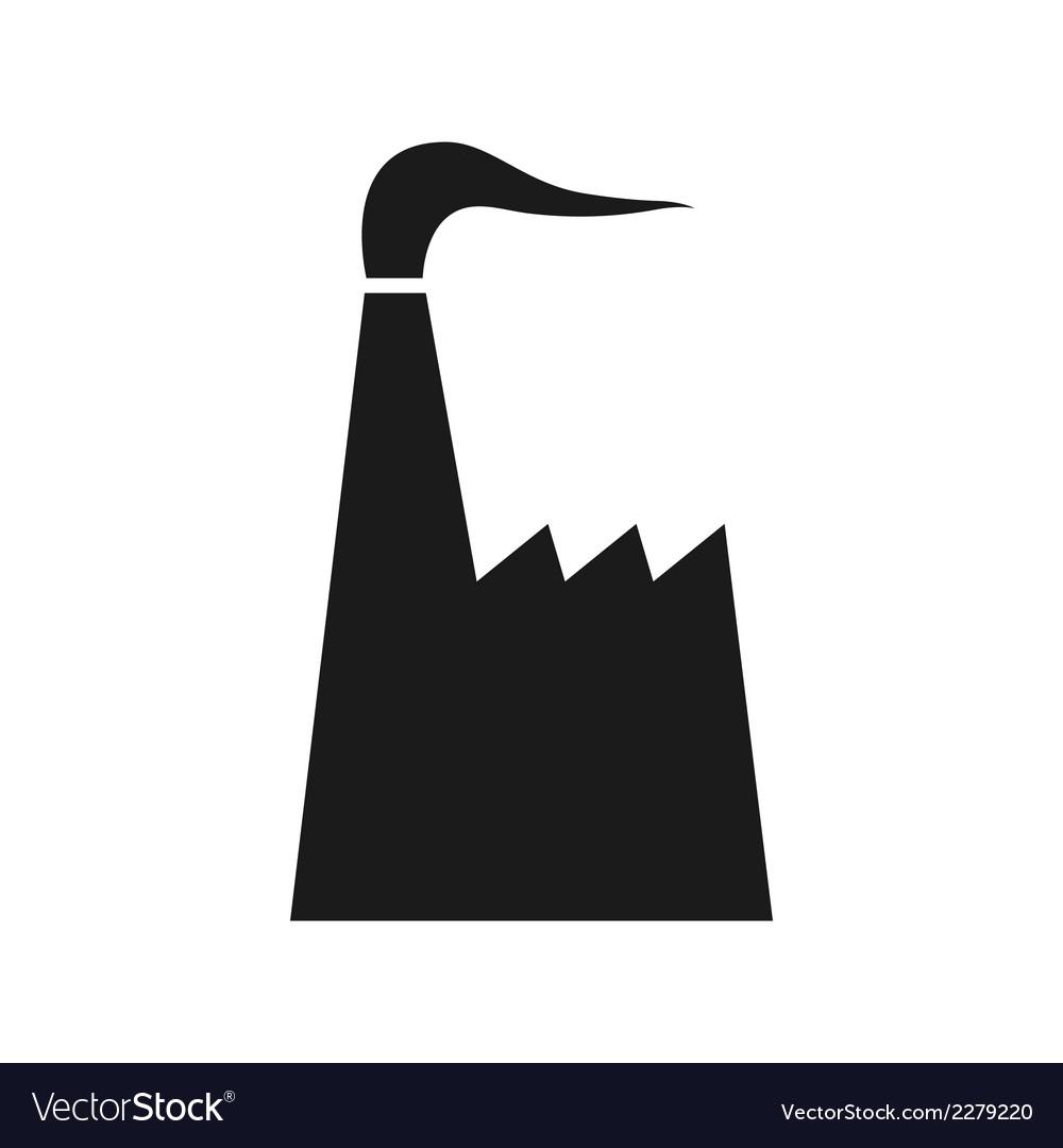 Black factory icon vector | Price: 1 Credit (USD $1)