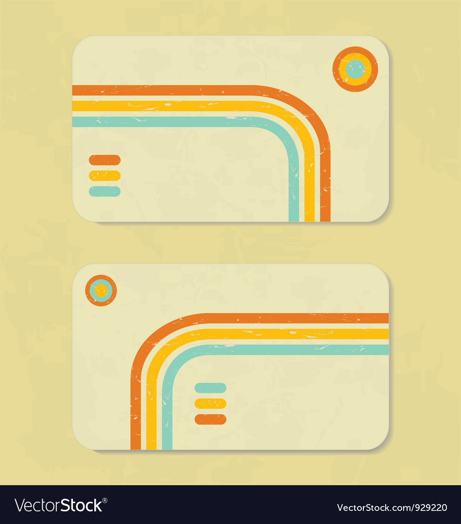Business retro card vector | Price: 1 Credit (USD $1)