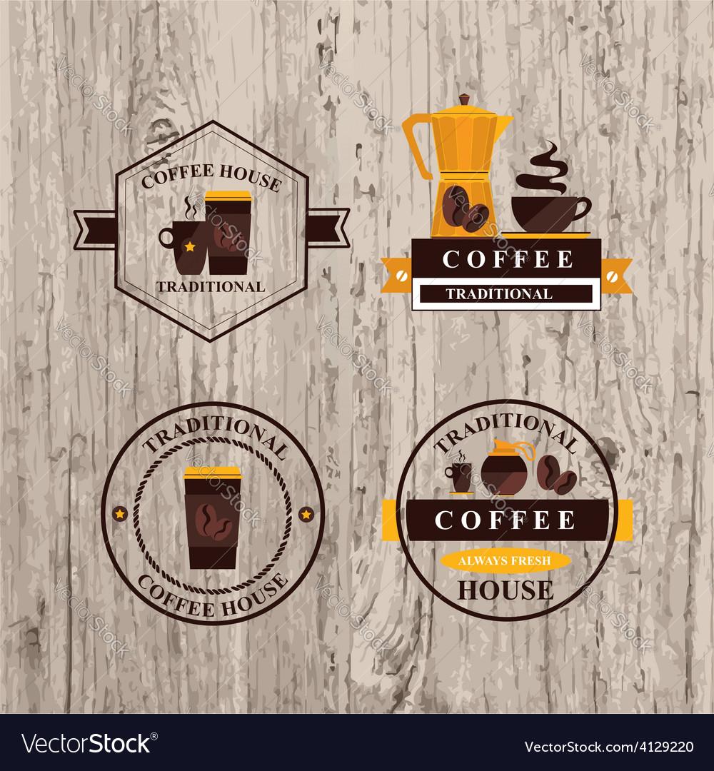 Coffee label icon menu vector | Price: 1 Credit (USD $1)