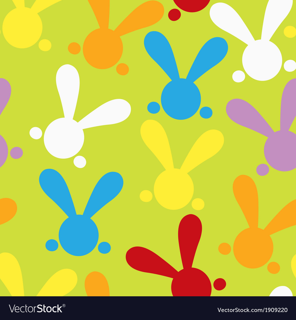 Colorful seamless patern with easter bunny vector | Price: 1 Credit (USD $1)