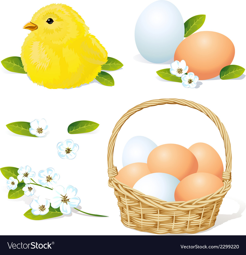 Easter and spring element vector | Price: 1 Credit (USD $1)
