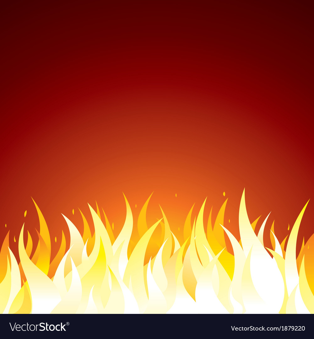 Fire background template for text or design vector | Price: 1 Credit (USD $1)