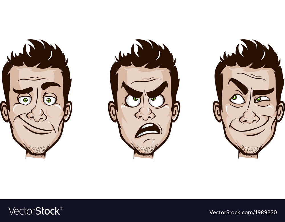 Man emotions set vector | Price: 1 Credit (USD $1)