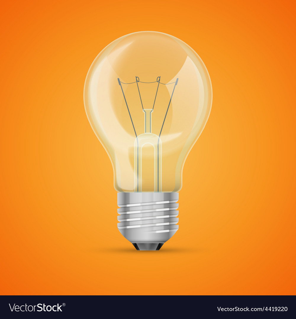 Realistic light bulb vector | Price: 1 Credit (USD $1)