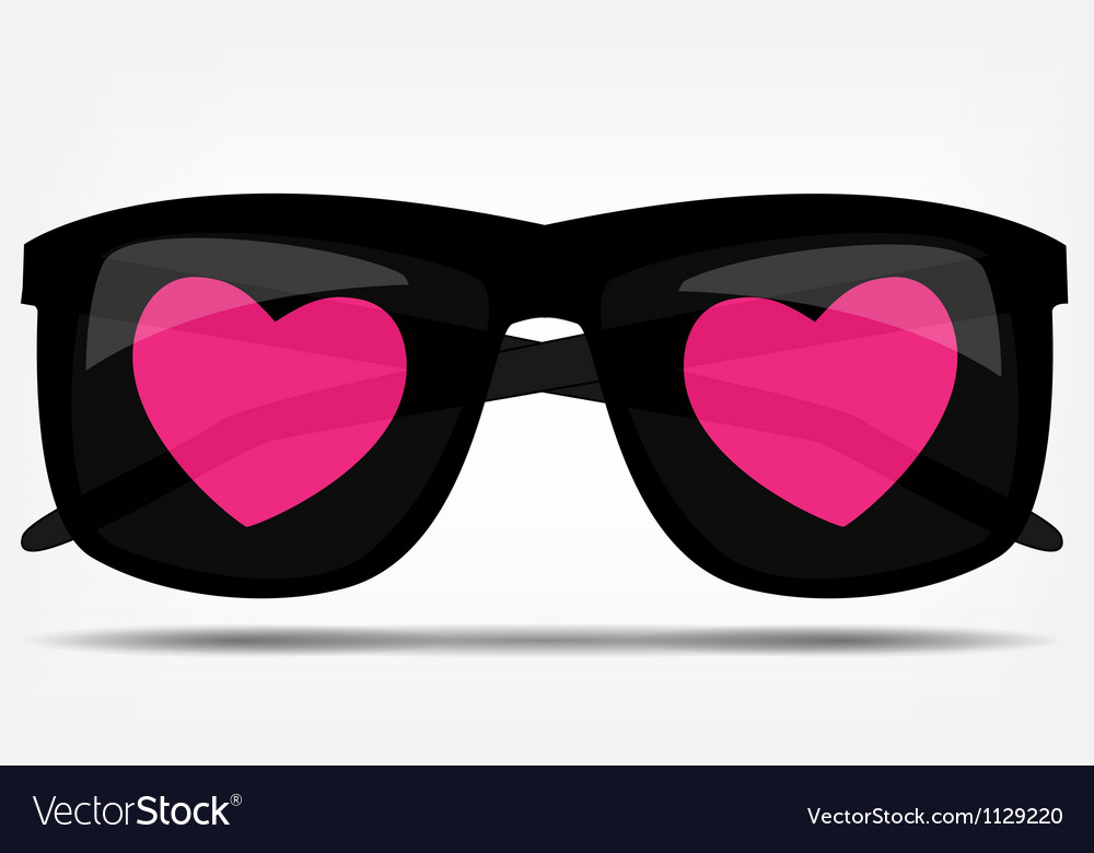 Sunglasses with a heart vector | Price: 1 Credit (USD $1)