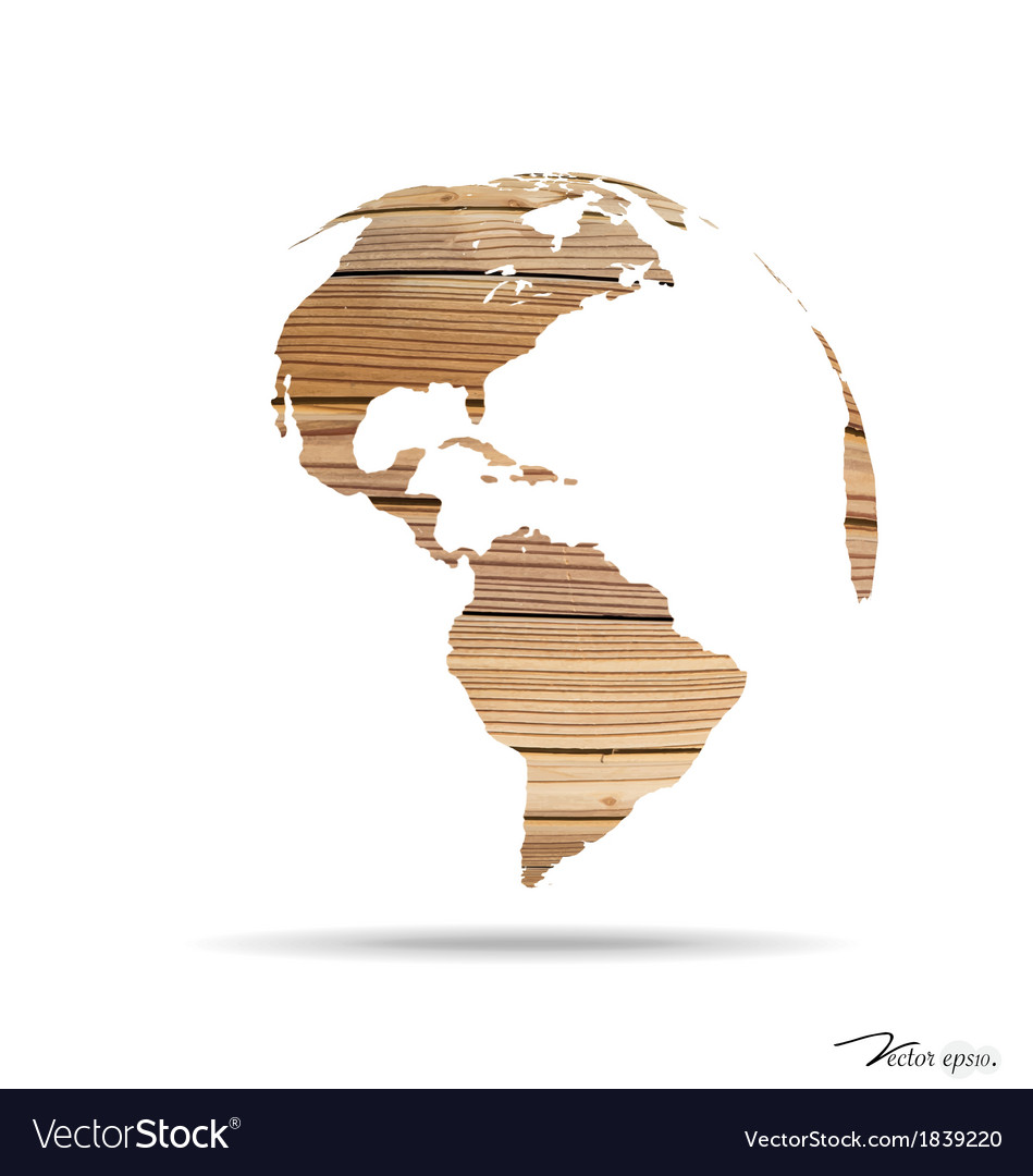 Wooden world vector | Price: 1 Credit (USD $1)
