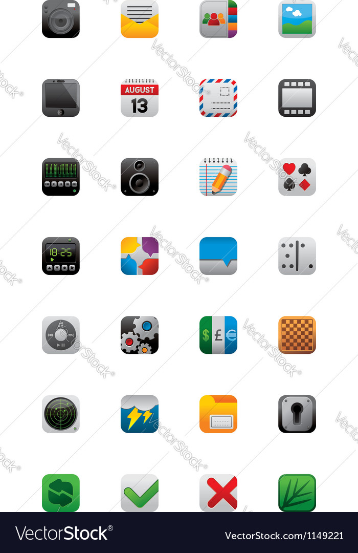 28 app icons vector | Price: 3 Credit (USD $3)