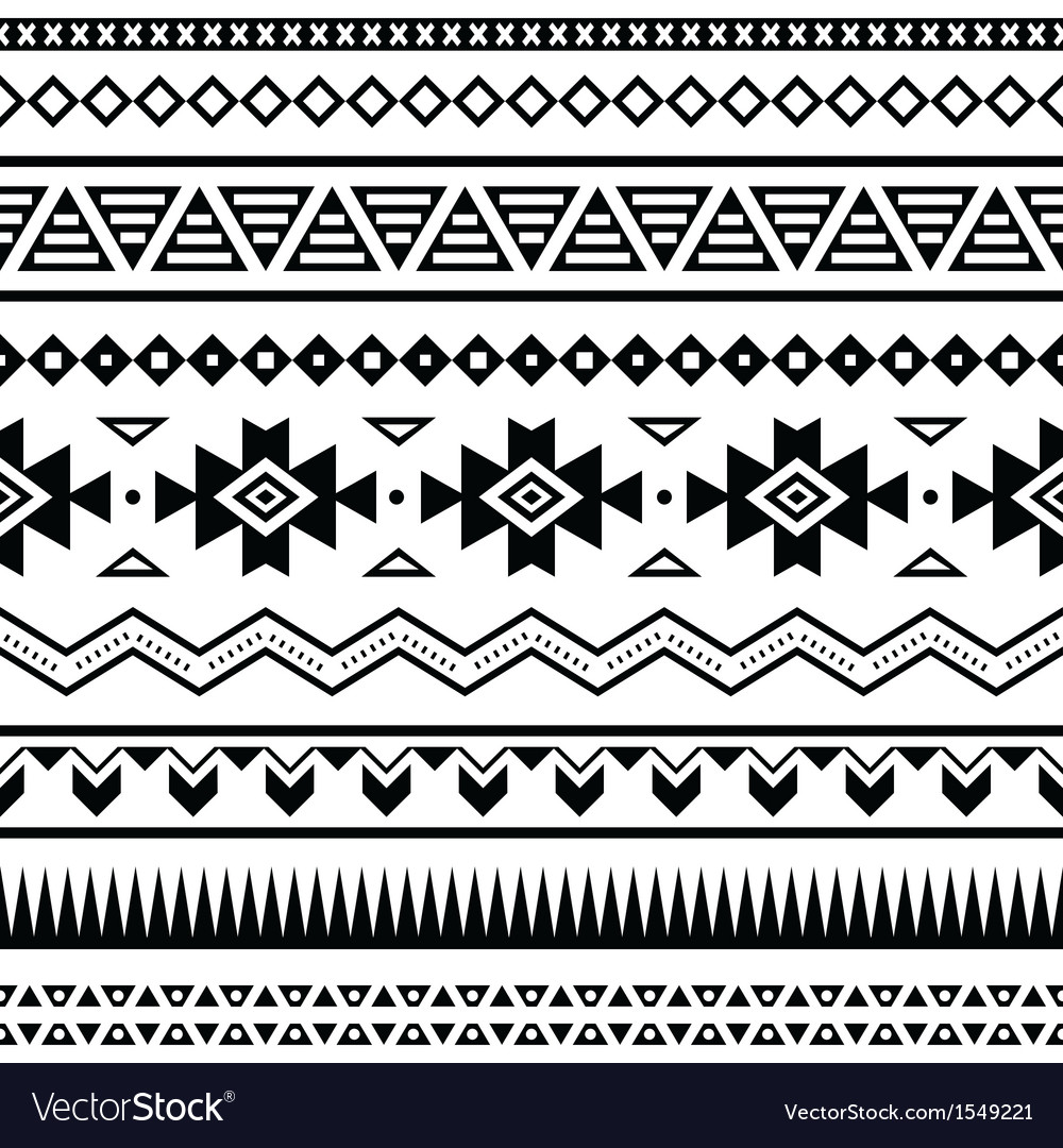 Aztec mexican seamless pattern vector | Price: 1 Credit (USD $1)