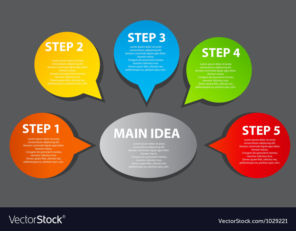 Business presentation diagram vector | Price: 1 Credit (USD $1)