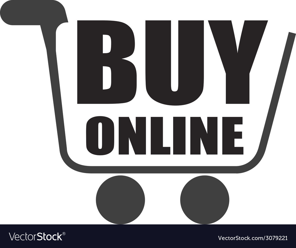 Buy on line design vector