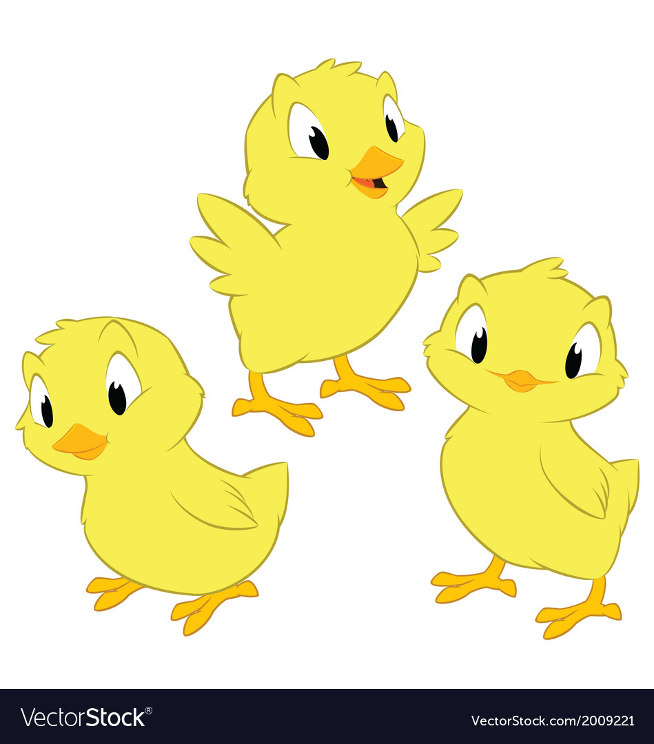 Cartoon chickens vector | Price: 1 Credit (USD $1)