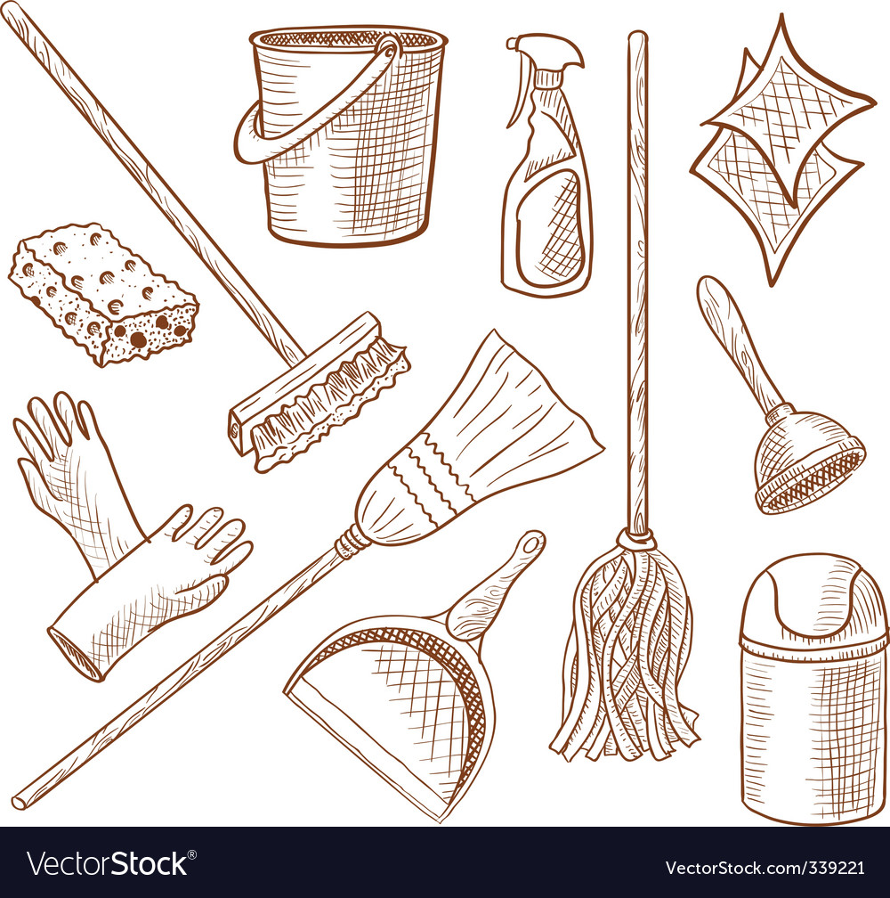 Cleaning service icon set vector | Price: 1 Credit (USD $1)
