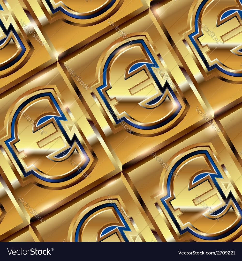 Euro ingot vector | Price: 1 Credit (USD $1)