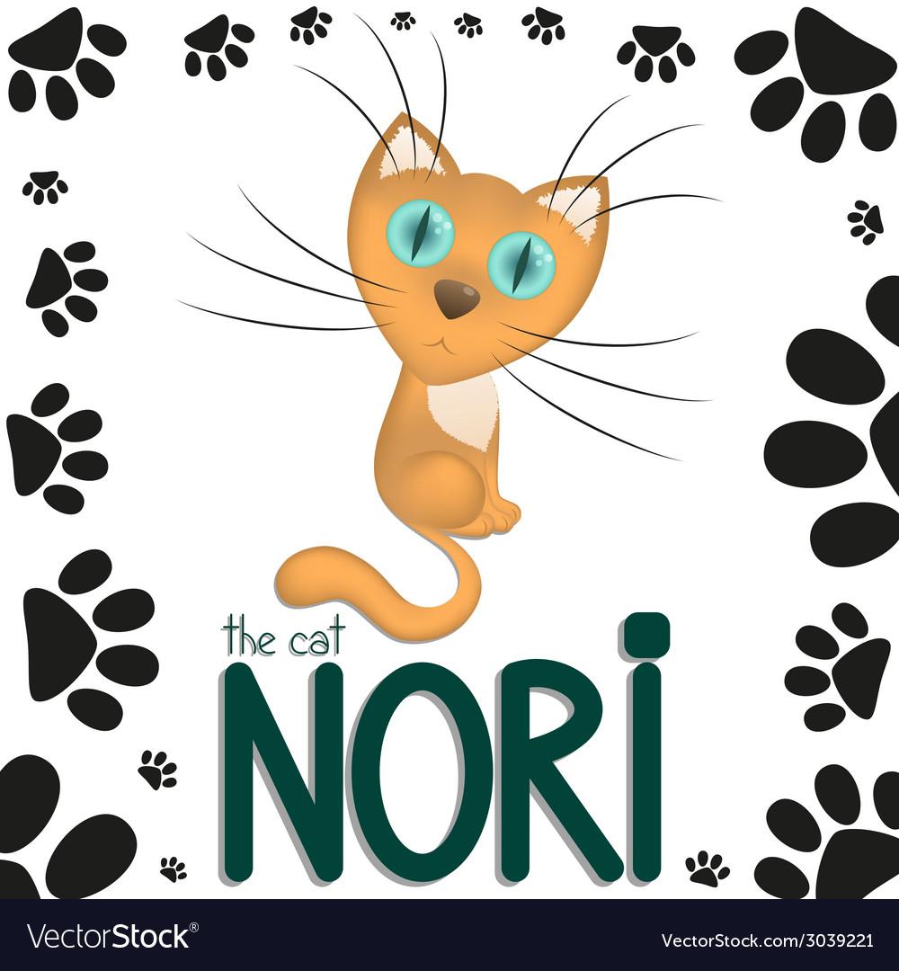 Funny cartoon cat nori vector | Price: 1 Credit (USD $1)