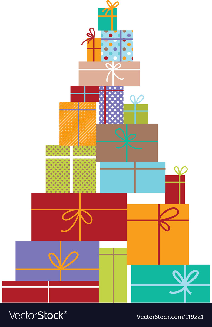 Gift tree vector | Price: 1 Credit (USD $1)