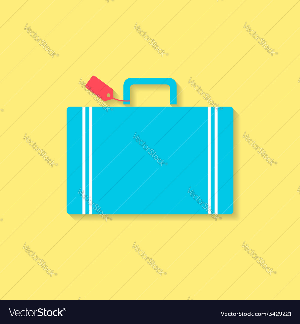 Luggage flat icon travel conception vector | Price: 1 Credit (USD $1)