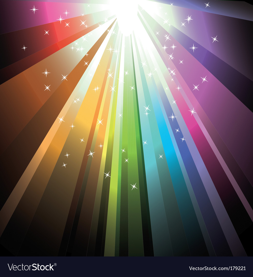 Rainbow light with delicate stars vector | Price: 3 Credit (USD $3)