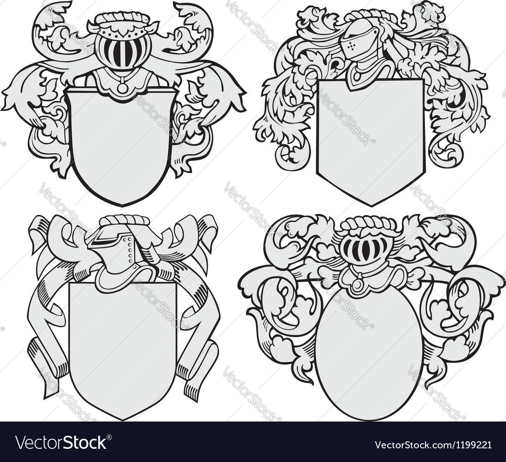 Set of aristocratic emblems no5 vector | Price: 1 Credit (USD $1)
