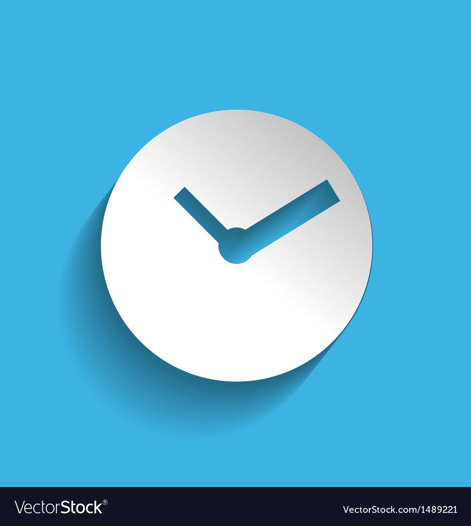 Time clock icon modern flat design vector | Price: 1 Credit (USD $1)