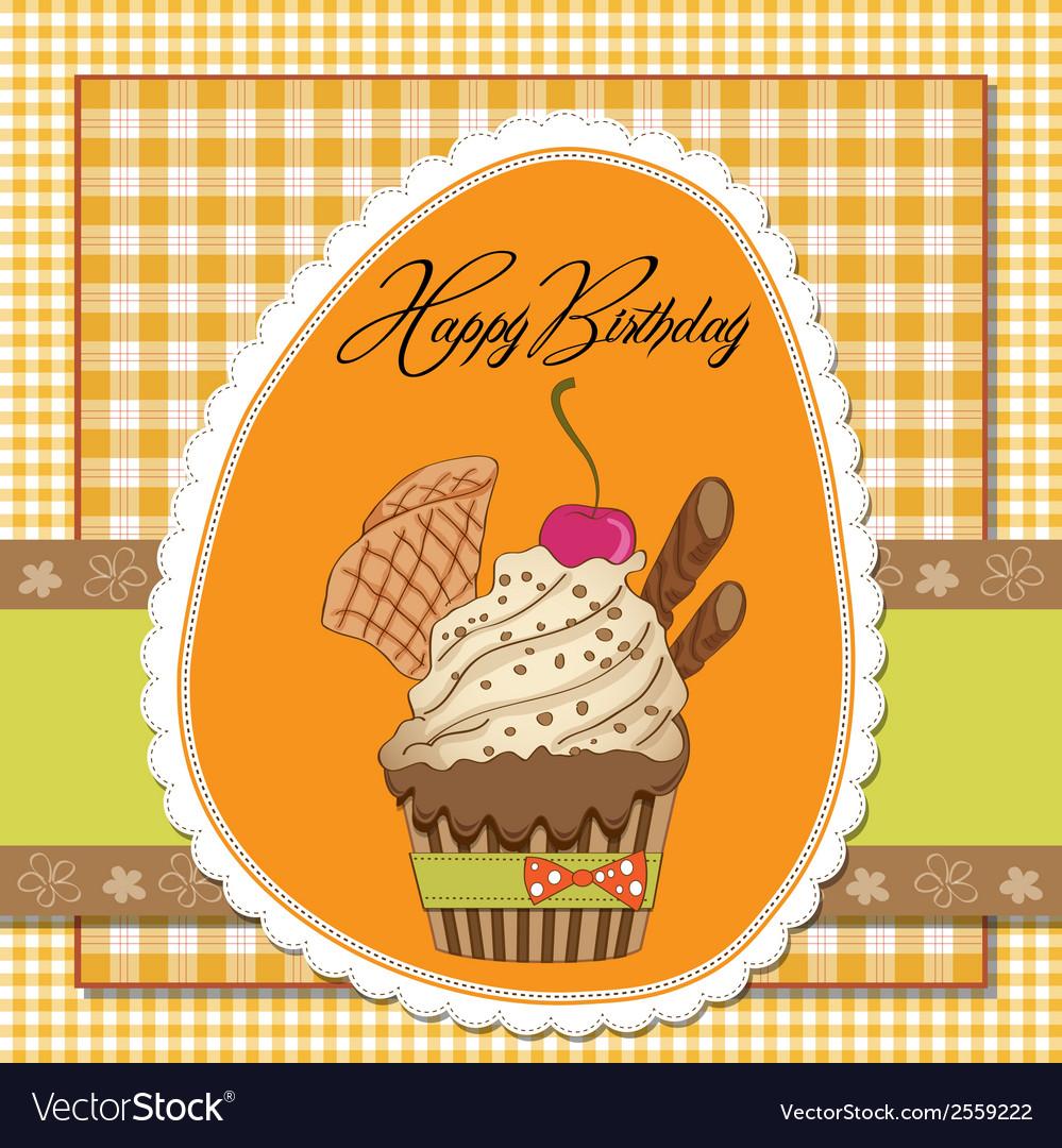 Birthday cupcake vector | Price: 1 Credit (USD $1)