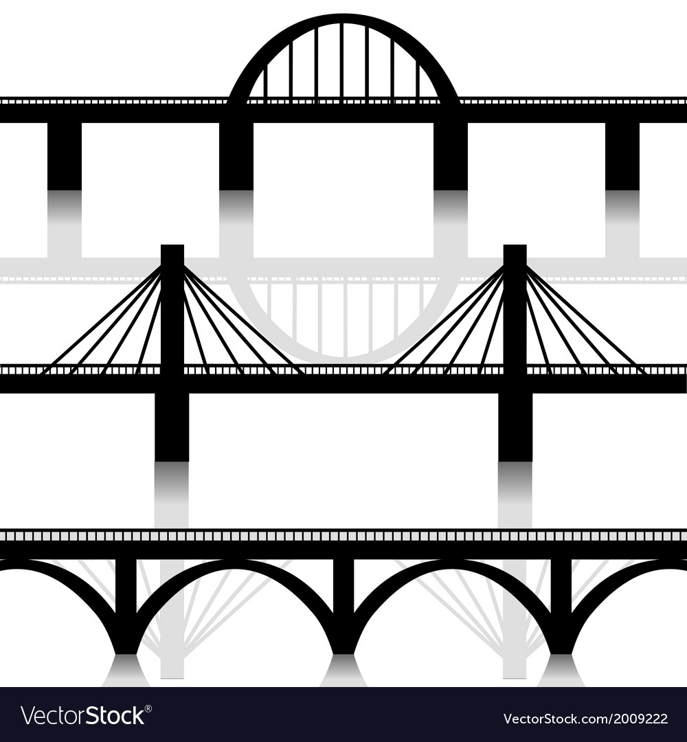 Bridges set vector | Price: 1 Credit (USD $1)