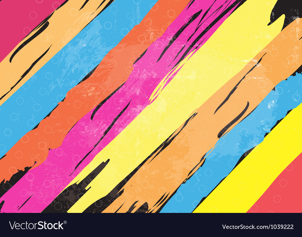 Color paint stripe background vector | Price: 1 Credit (USD $1)