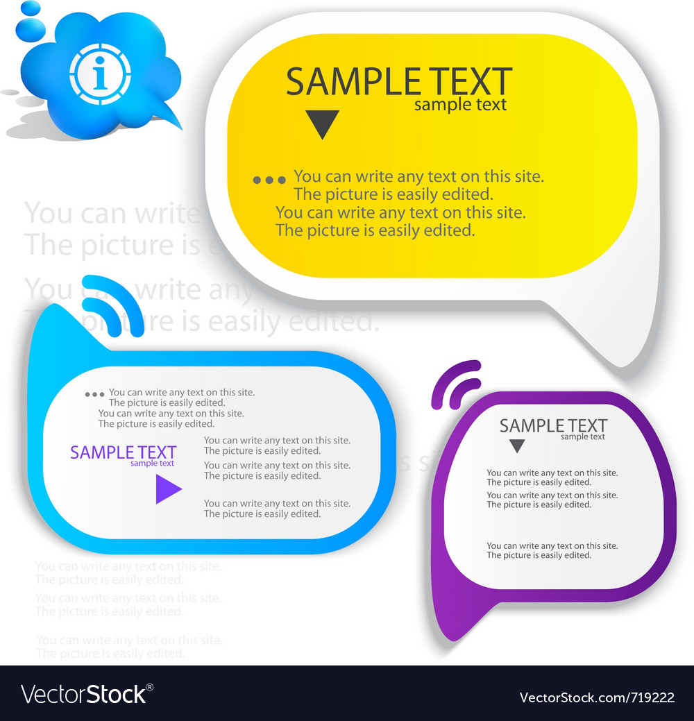 Colorful speech frame for text vector | Price: 1 Credit (USD $1)