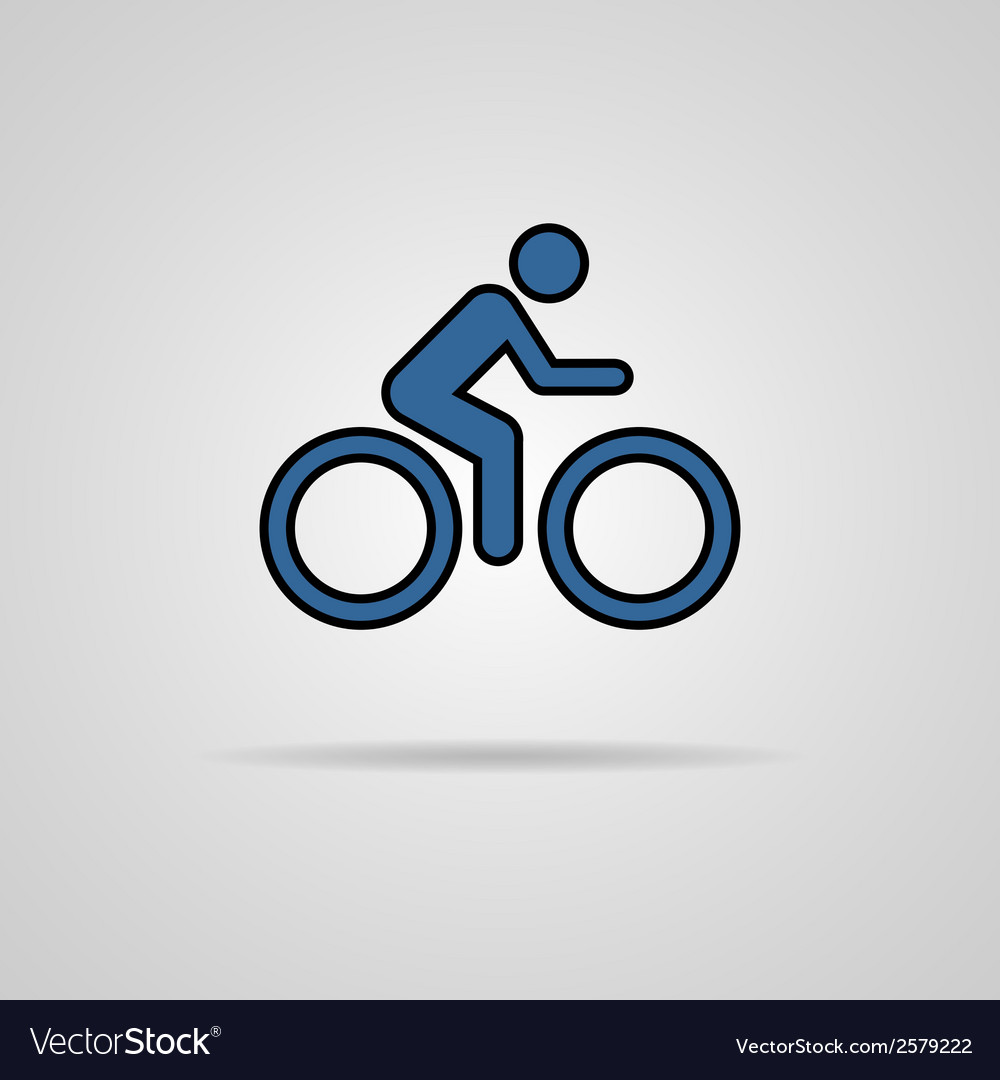 Cycling graphic symbol with shadow vector | Price: 1 Credit (USD $1)